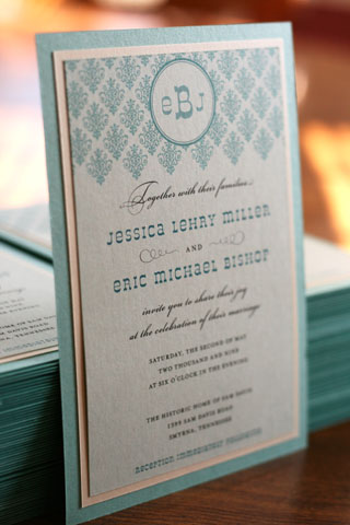 diy wedding invitation turquoise