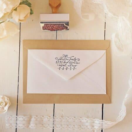 Paper Peach Shop Custom Wedding Stamp