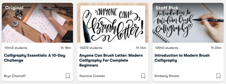 skillshare diy calligraphy classes