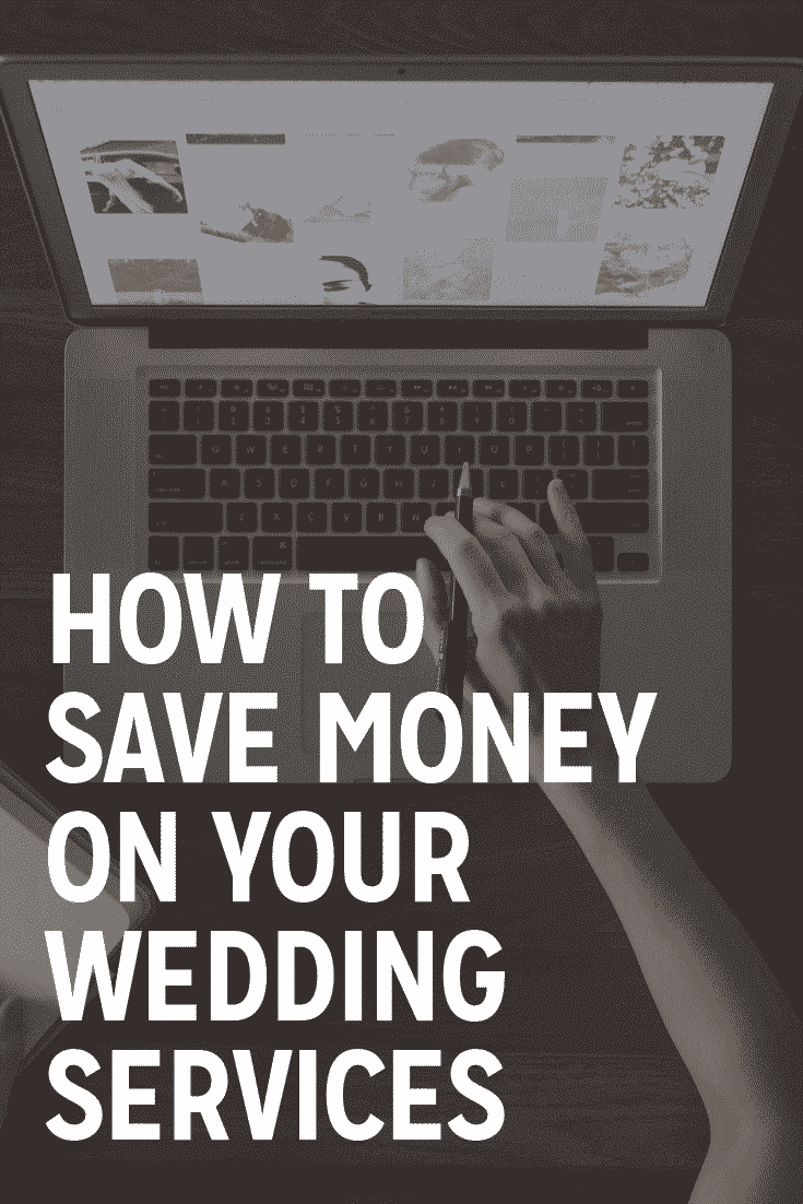 how to save money on your wedding services