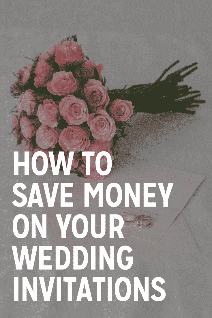 how to save money on your wedding invitations
