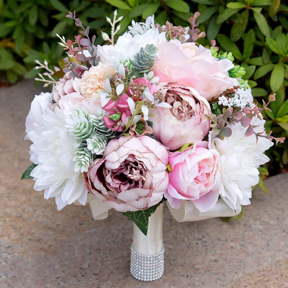 amazon silk wedding bouquet