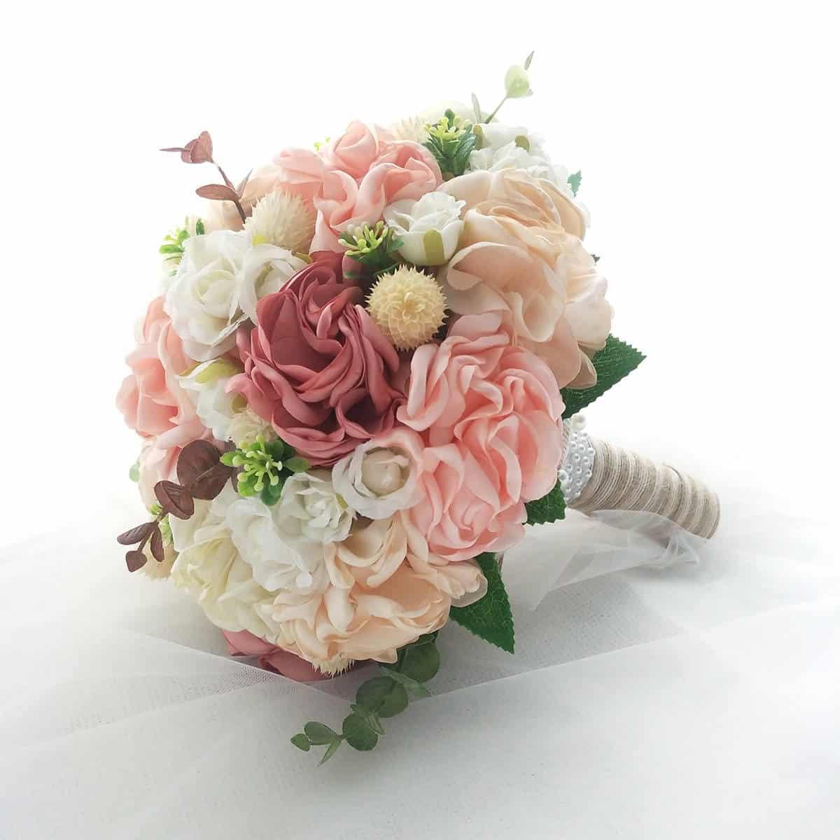 Etsy Silk Wedding Bouquet from BurlapSeasom