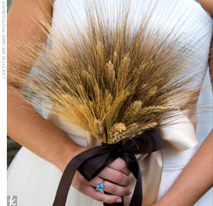 wheat wedding bouquets