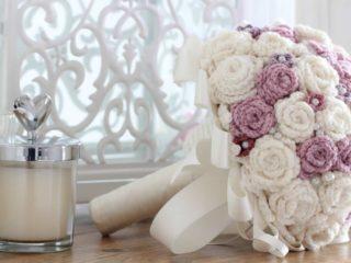 yarn wedding bouquet