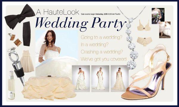 HauteLook's Wedding sales event