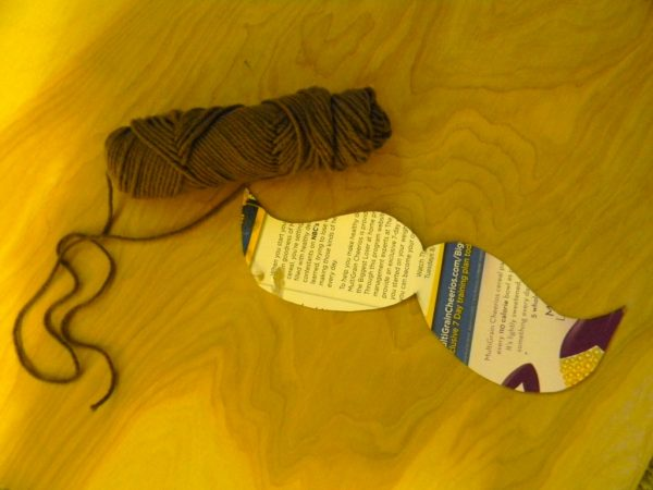 yarn wrapped monogram
