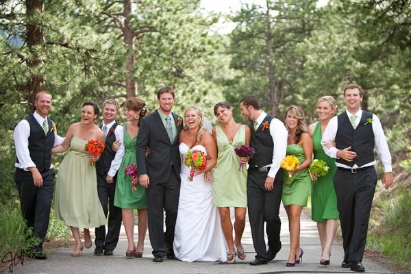 green chiffon bridesmaid dress