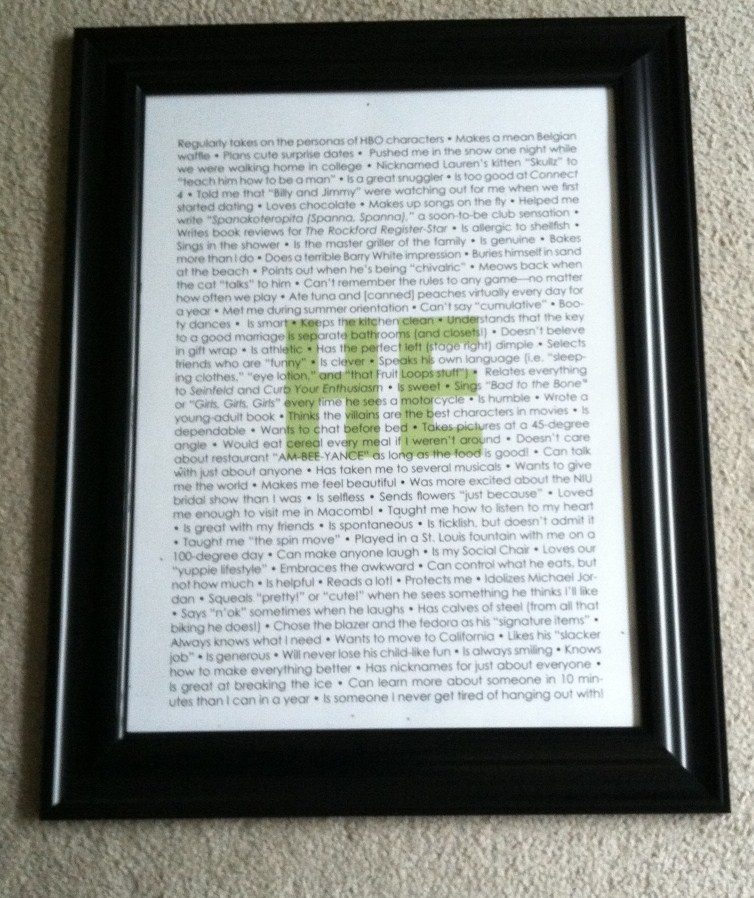 Large Personalized Frames