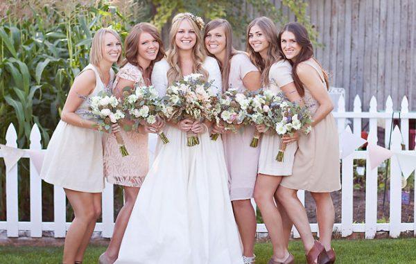 bridesmaid's dress