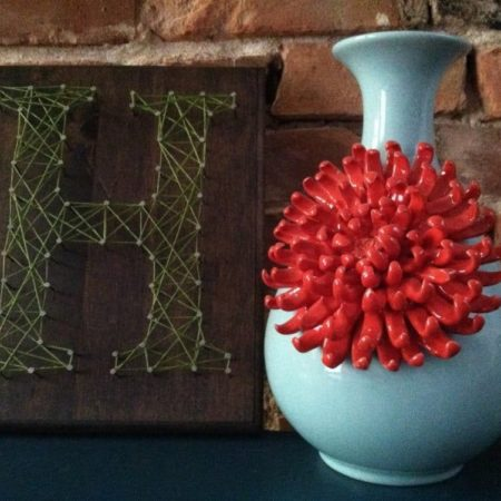 DIY String Art Initial Wedding Decor