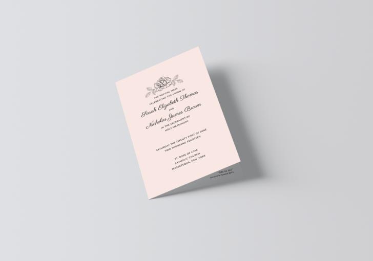 Catholic Wedding Program Template