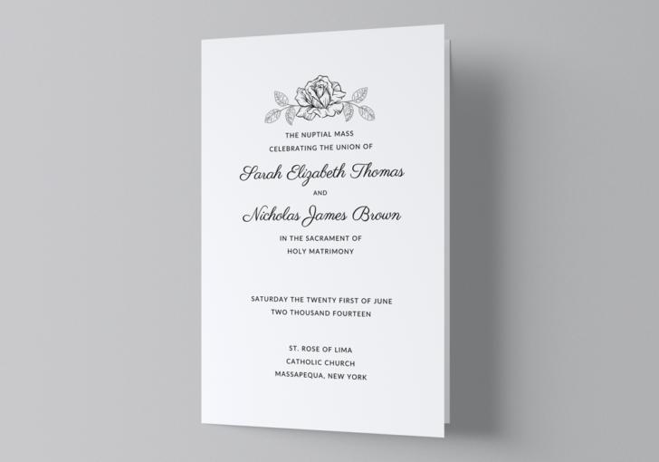 Catholic Wedding Program Free Template - Cover