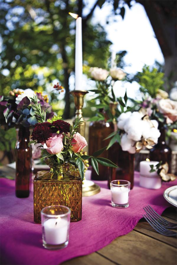 DIY Dip-Dyed Ombré Table Linens by Stockroom Vintage Event Rentals, Nashville, TN