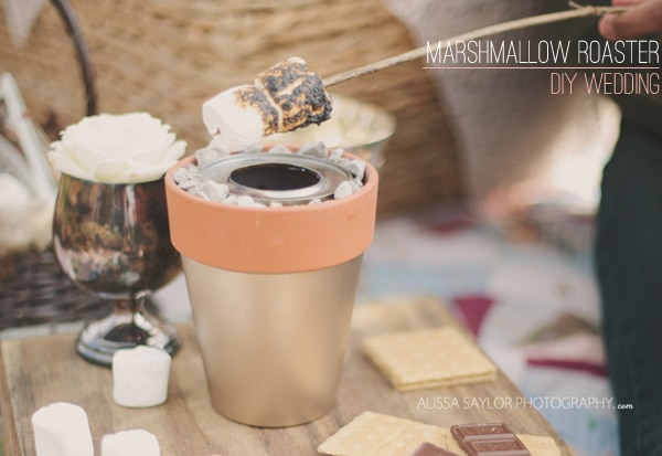 DIY Tabletop Terra Cotta Marshmallow S'mores Roaster by Stockroom Vintage Event Rentals, Nashville, TN