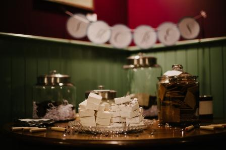 Our s'mores bar was a hit. We ordered peppermint and caramel marshmallows to add some variety.