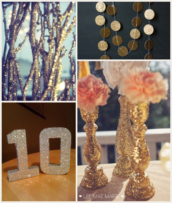 Make Your Wedding Look More Expensive with Glitter
