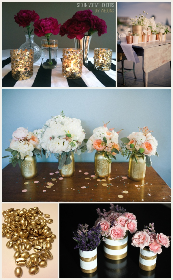 Make Your Wedding Look More Expensive with Metallic Accents