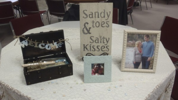 A close-up of the welcome display... and the sign was part of my gift!