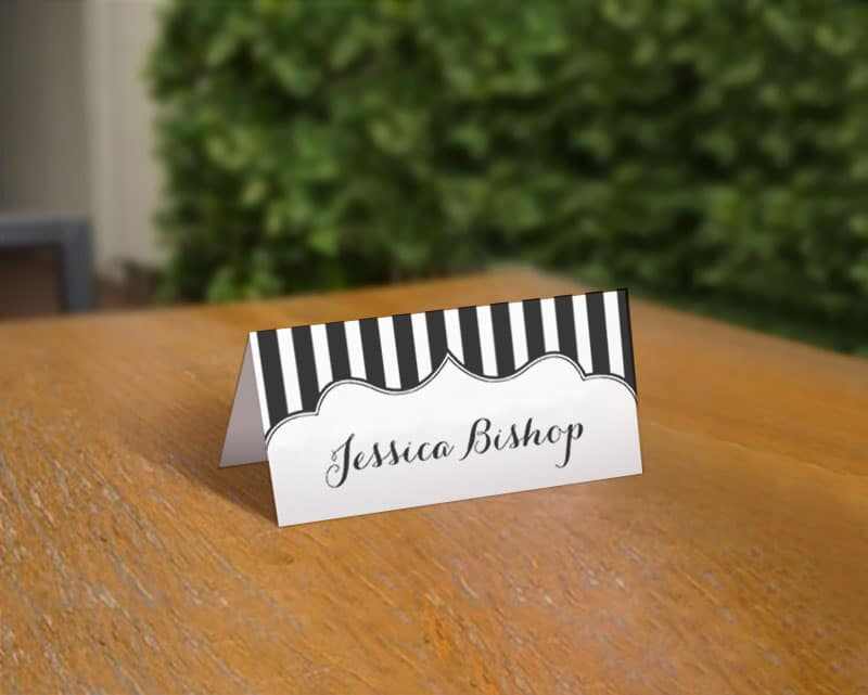 Free Printable Stripe Place Cards