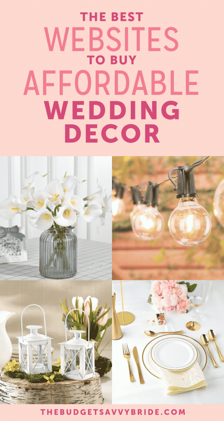 the best websites to shop for affordable wedding decor