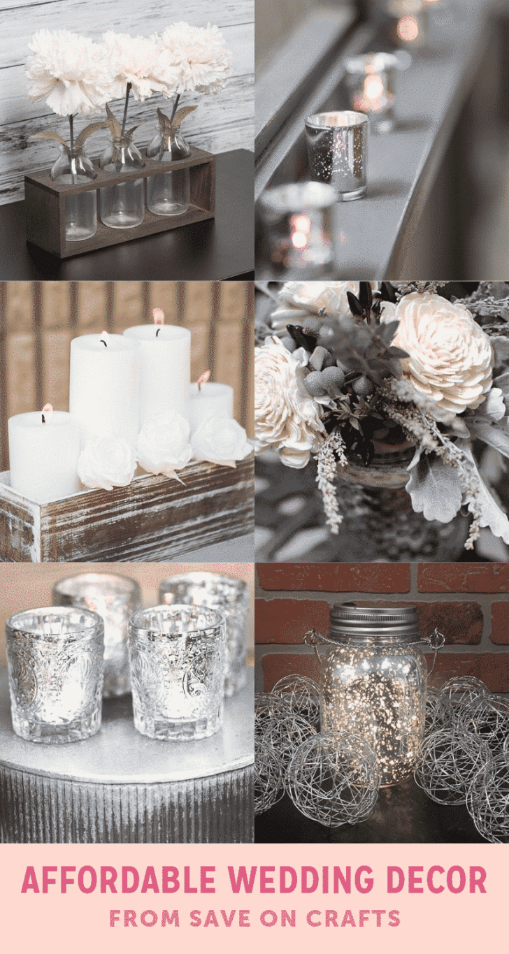 affordable wedding decor from save on crafts