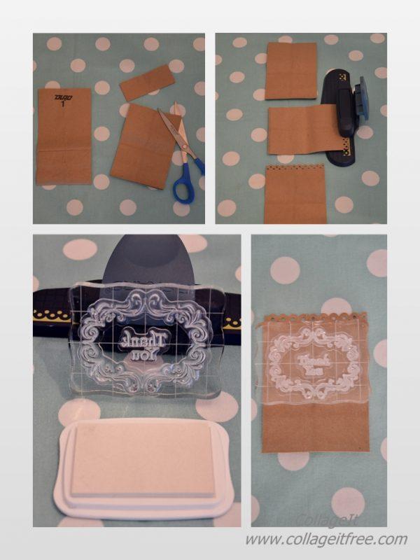 DIY Favor Bag Step-by-Step Collage