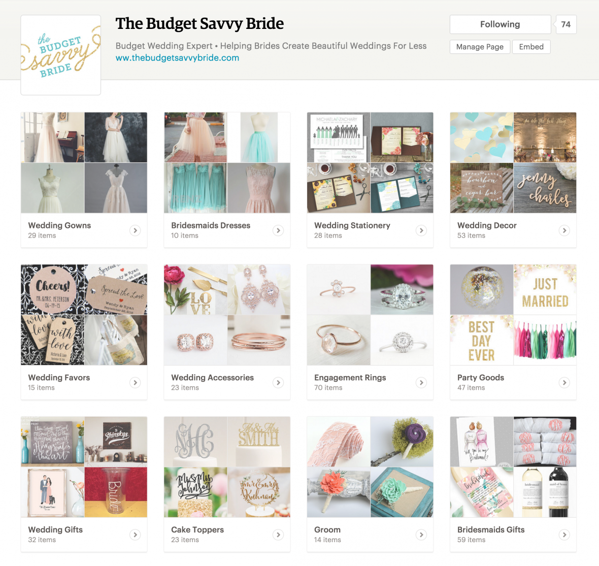 The Budget Savvy Bride Etsy Tastemaker Page