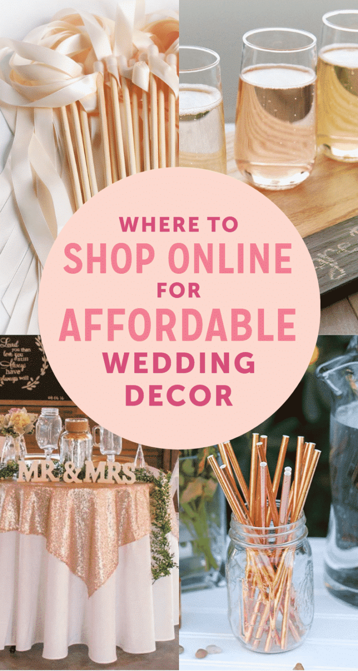 best websites for affordable wedding decor
