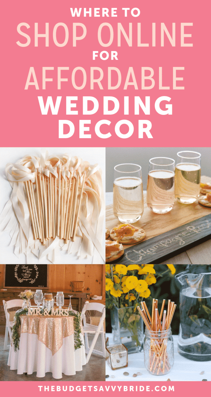 where to shop online for affordable wedding decor