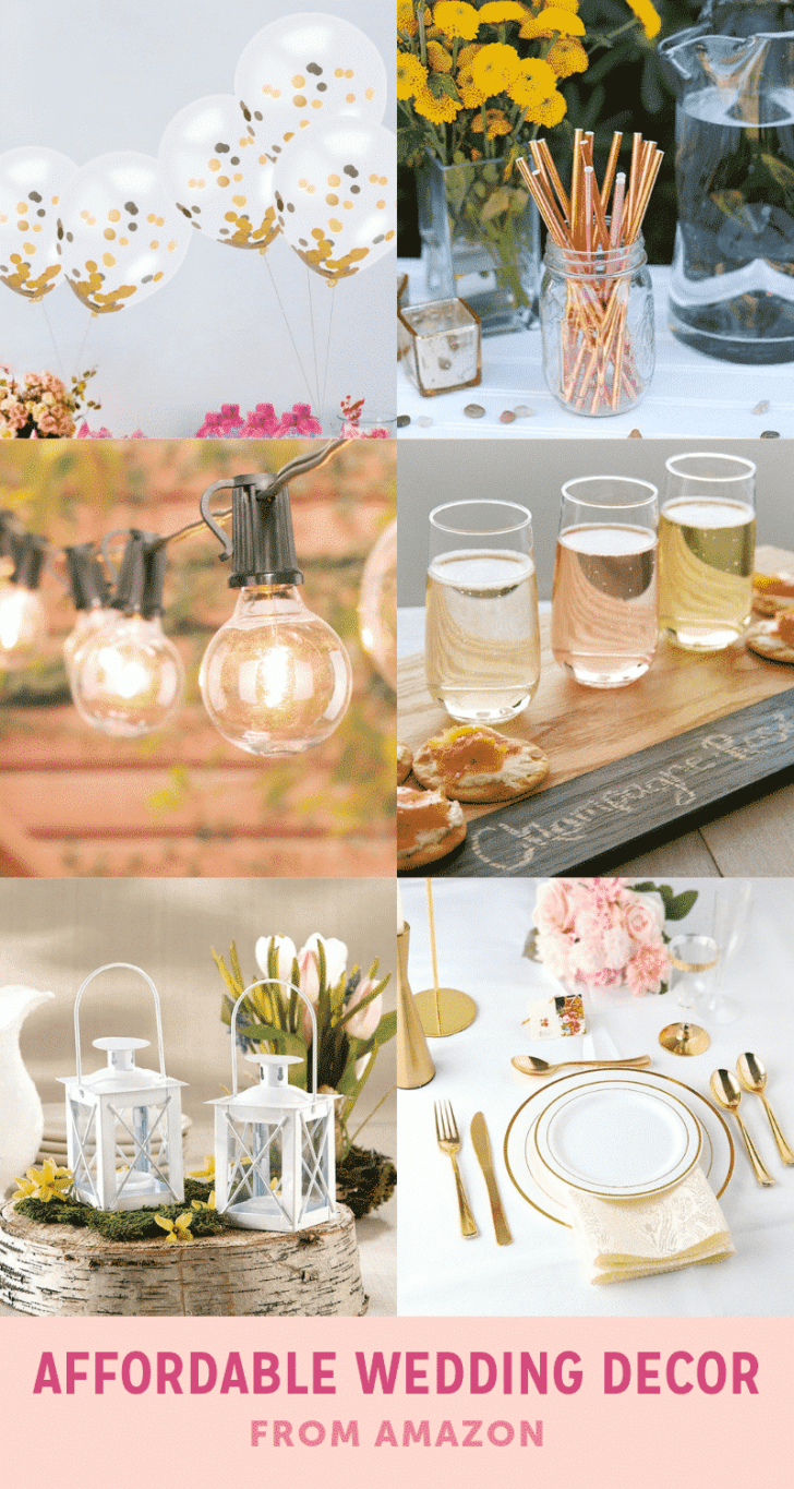 affordable wedding decor from amazon