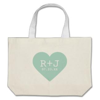 canvas wedding tote bag