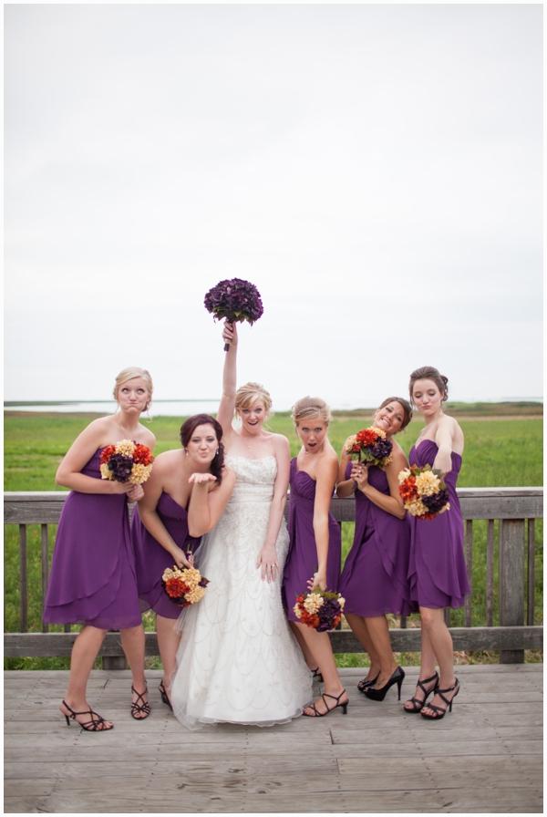 purple bridesmaid