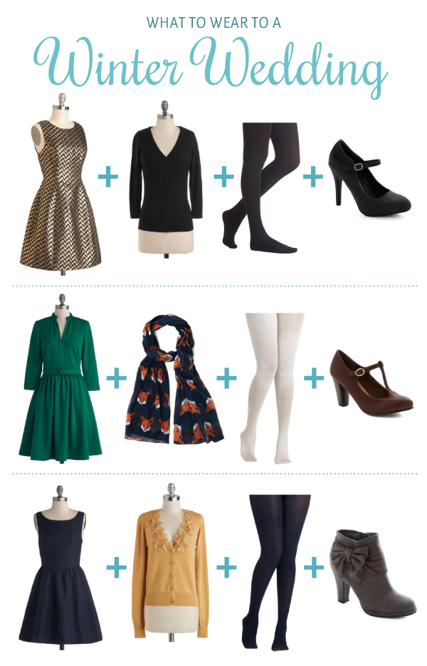 What to Wear to a Winter Wedding : Winter Wedding Outfit Ideas