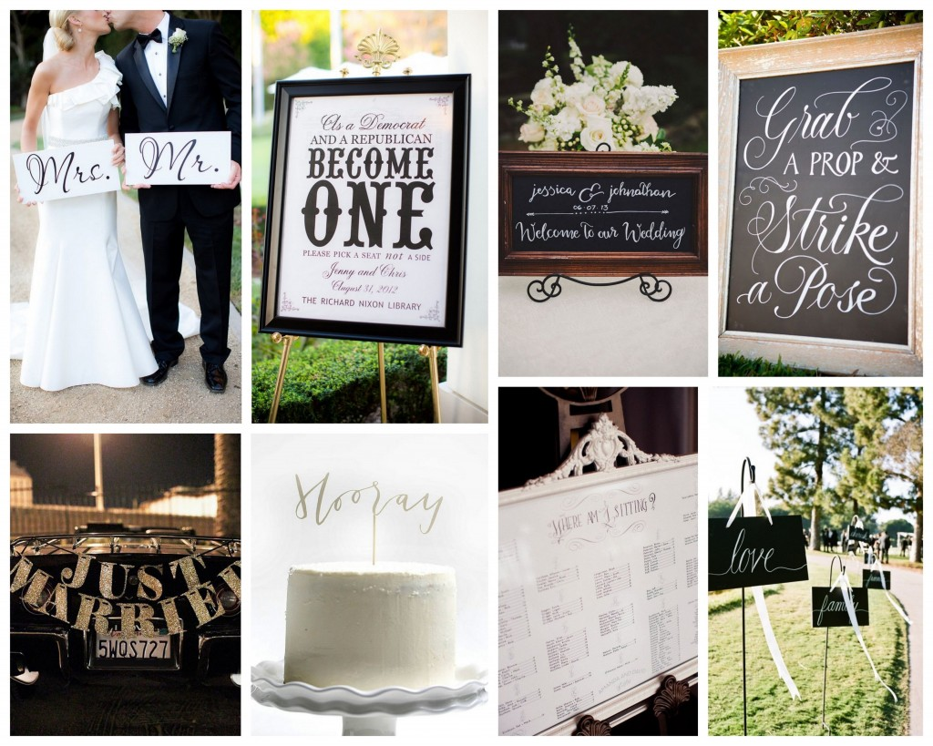 Wedding Day Signage --  Wedding signage can make a big impact on your event's aesthetic, but it also serves a purpose. Don't overlook this important wedding detail!