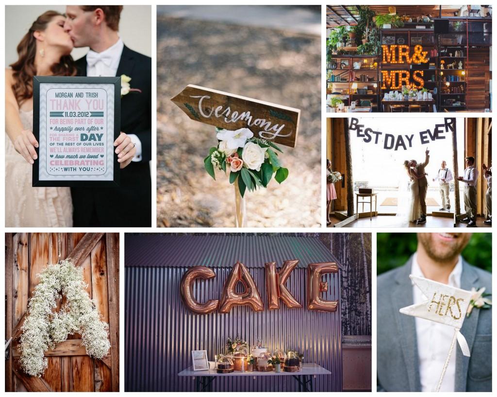 Wedding Signage Lettering Ideas