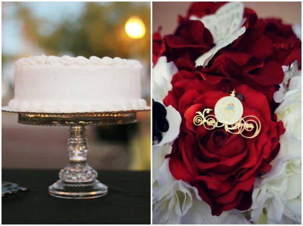 black white red Park Wedding