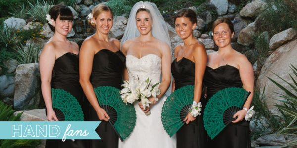 wedding decor and accessories - hand fans