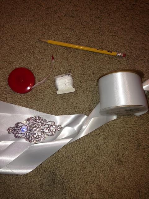 DIY bridal sash
