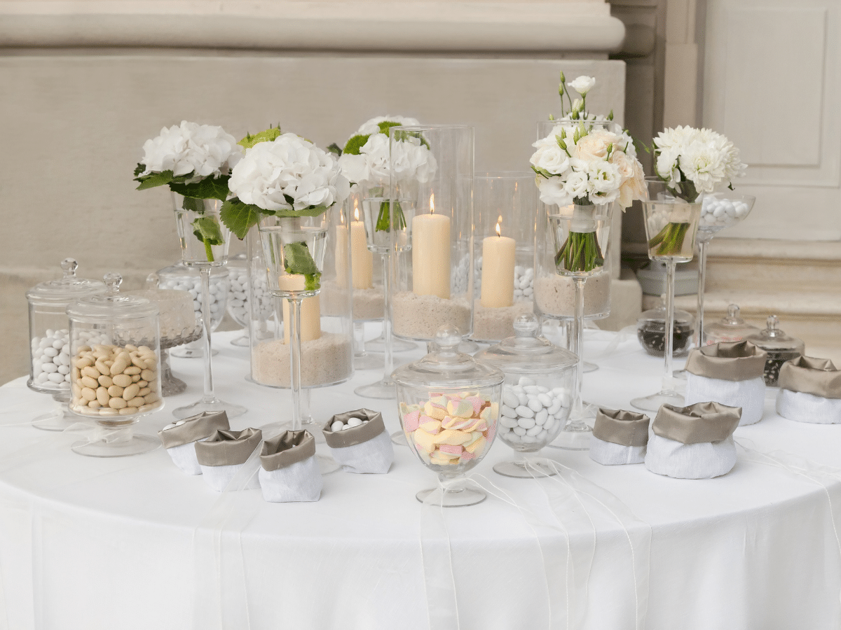tips for planning a wedding candy buffet