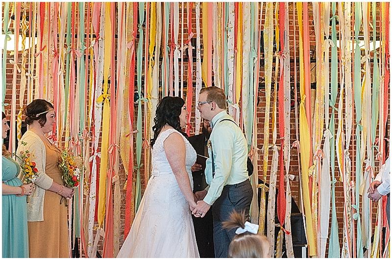 ribbon wedding altar