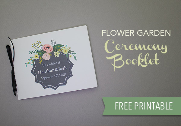 """""""They"""" say nothing is free. We beg the differ. Our list of wedding freebies will get you free wedding stuff with just the click of your mouse, including this ceremony booklet template."""
