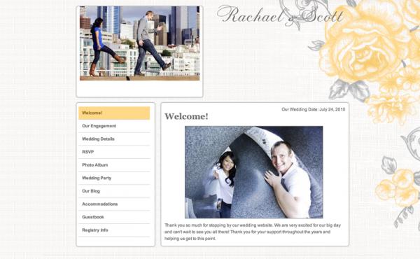 wedding website example