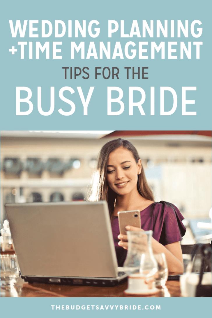 time manangement wedding planning tips
