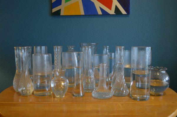 my thrift store wedding vases