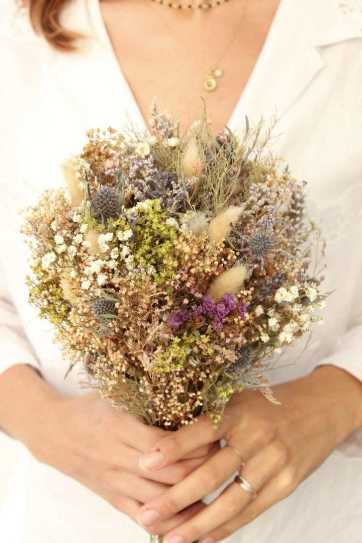 bridalwishdesign - dried wedding flowers