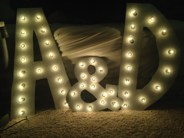 Finished DIY Marquee Letters