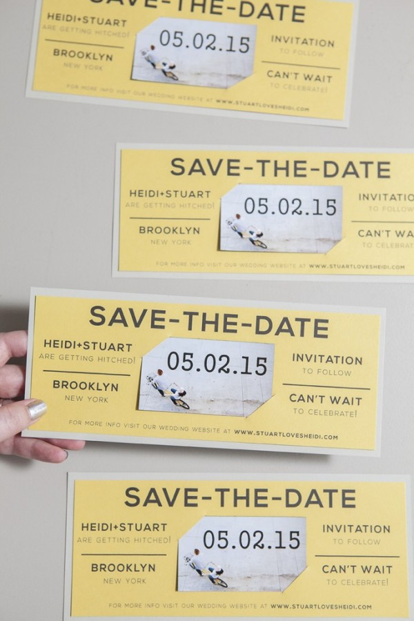 Magnet Save the Date - horizontal layout