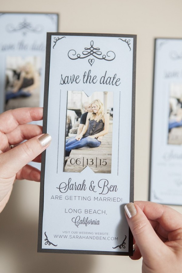 Magnet Save the Date - vertical layout