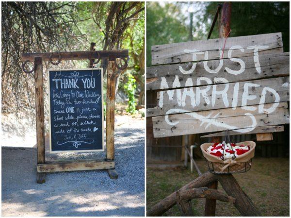 Jenny & Jeff's rustic wedding details
